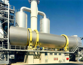 indirectly heated rotary tube bundle dryer with cogeneration systems (CHP)
